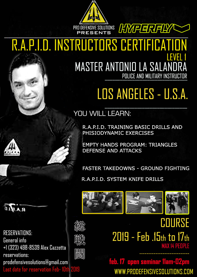 R.A.P.I.D. FIGHTING SYSTEM INSTRUCTORS CERTIFICATION
